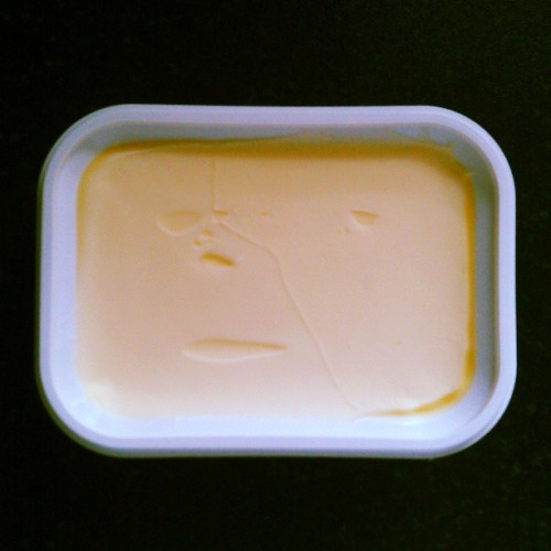 I FOUND THE PHANTOM OF THE OPERA IN MY BUTTER! Way cooler than Jesus in a slice of bread.