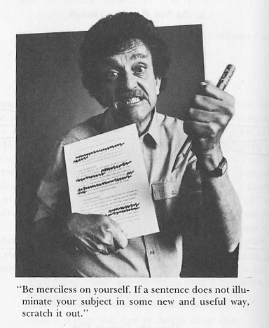 "explore-blog:    8 timeless tips on writing from Kurt Vonnegut    Listen to what Kurt had to say on May 4, 1970 at 92Y, as he read a ""world premiere"" of Breakfast of Champions. ""Not even my wife has seen it,"" he told the audience."