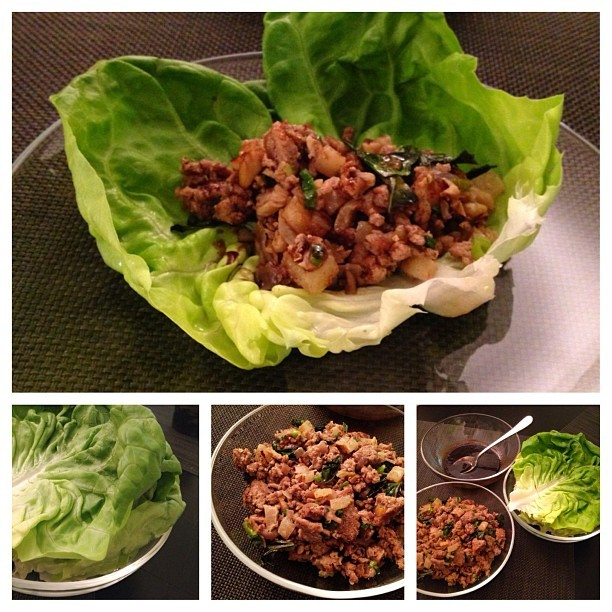 Kosher for #passover turkey lettuce wraps w/ honey-balsamic glaze