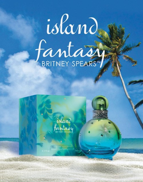 "FIRST PROMO PICTURE OF ""ISLAND FANTASY"" From The Britney Spears Fragrance facebook:  ""Island Fantasy is the newest addition to the Britney Spears Fragrance collection, launching this spring in Europe and this summer in North America!"""