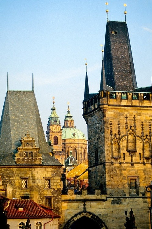 Spires, Prague, Czech Republic photo via melike