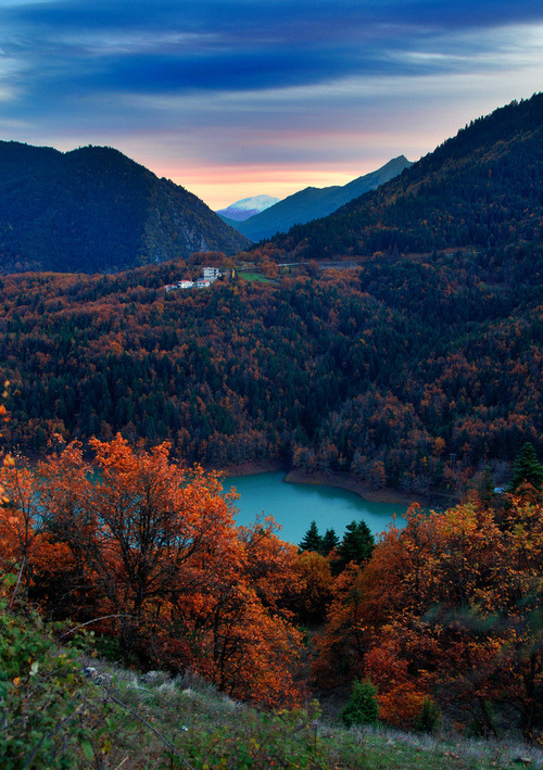 wanderlusteurope:  Lake Plastiras, Greece