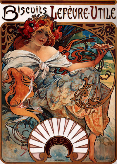 masterpieceart:  Alphonse Mucha Art Nouveau Master Alphonse Mucha was a Czechoslovakian artist who lived from 1860 until his death in 1939. He was known mostly for his painting, but had a number of other talents including lithography, fine jewelry design, sculpting and instruction.  The principle style of painting which Alphonse Marie Mucha developed and became linked with was Art Nouveau, the French term for 'new art' which was an artistic style and form of depicting art from around the 1880's up to 1910. The characteristic style of Art Noveau placed emphasis on natural curved and linear designs and floral emblems.