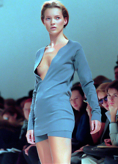 Kate Moss at Jil Sander Spring 1996.