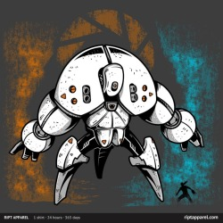 gamefreaksnz:  Last Boss by Melee Ninja US $ 10 for 24 hours only Artist: Redbubble | Facebook | Tumblr  Do you like portal or mechas? you are going to like my new design sold now on RIPT Apparel