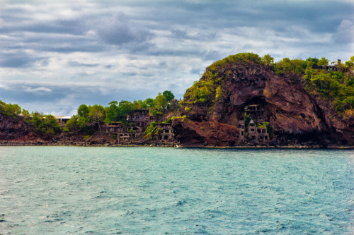 Bequia Island Houses Carved in Stone, The Grenadines ~ by Steve Porter