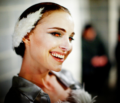 gasstation:  Natalie Portman on the set of Black Swan