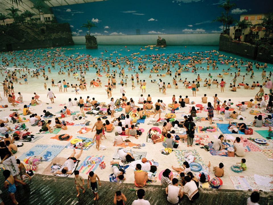 M is for Martin Parr and Miyazaki, Japan Home to the world's largest indoor watermark, as photographed here by Martin Parr. The Ocean Dome, Miyazaki, Japan, 1996. © Martin Parr/Magnum Photos