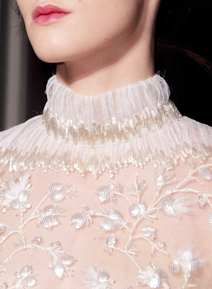detail at valentino couture spring 2013