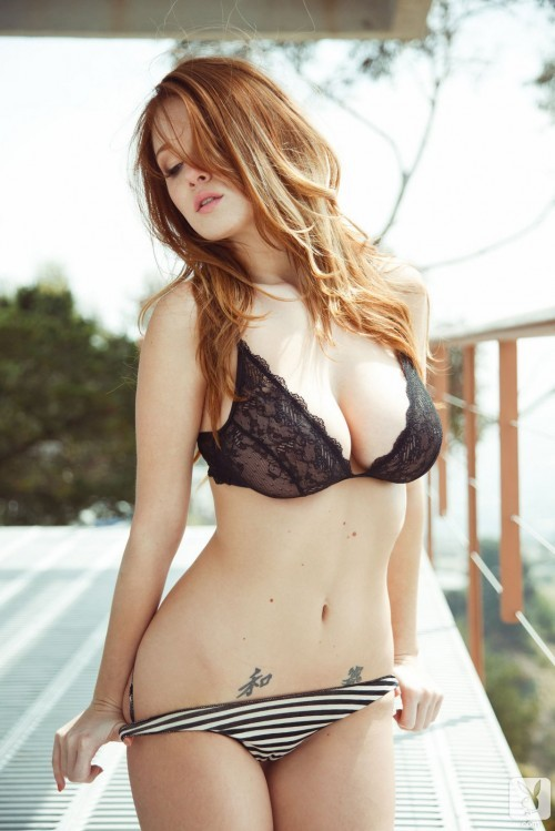 Leanna Decker Strips Seductively From Lace Bra