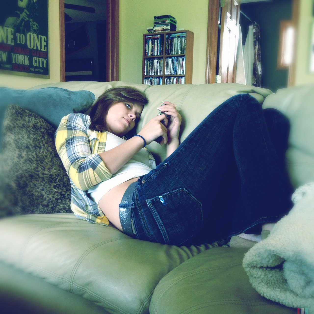 My girl's looking real serious on that iPhone….and sexy. #girlfriend #iphone #love #serious #portrait @erinlindsey39