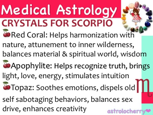 astrolocherry:  Medical Astrology: Crystals for Scorpio