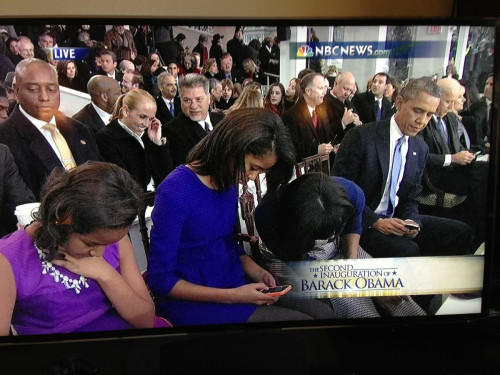 First Family checks their phones (via jedsundwall, Jared Keller)