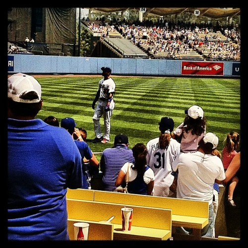 @dodgers game today! Hello Matt Kemp. #dodgers #mlb #baseball #mattkemp