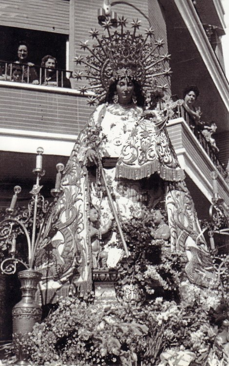A procession in honour of Our Lady of the Forsaken in Valencia, Spain.