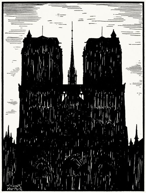 Notre-Dame de Paris.  William T. Horton, from A book of images, introduced by W. B. Yeats, London, 1898.  (Source: archive.org)