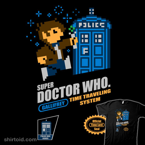 shirtoid:  Super Doctor Who by Baznet is available at NeatoShop