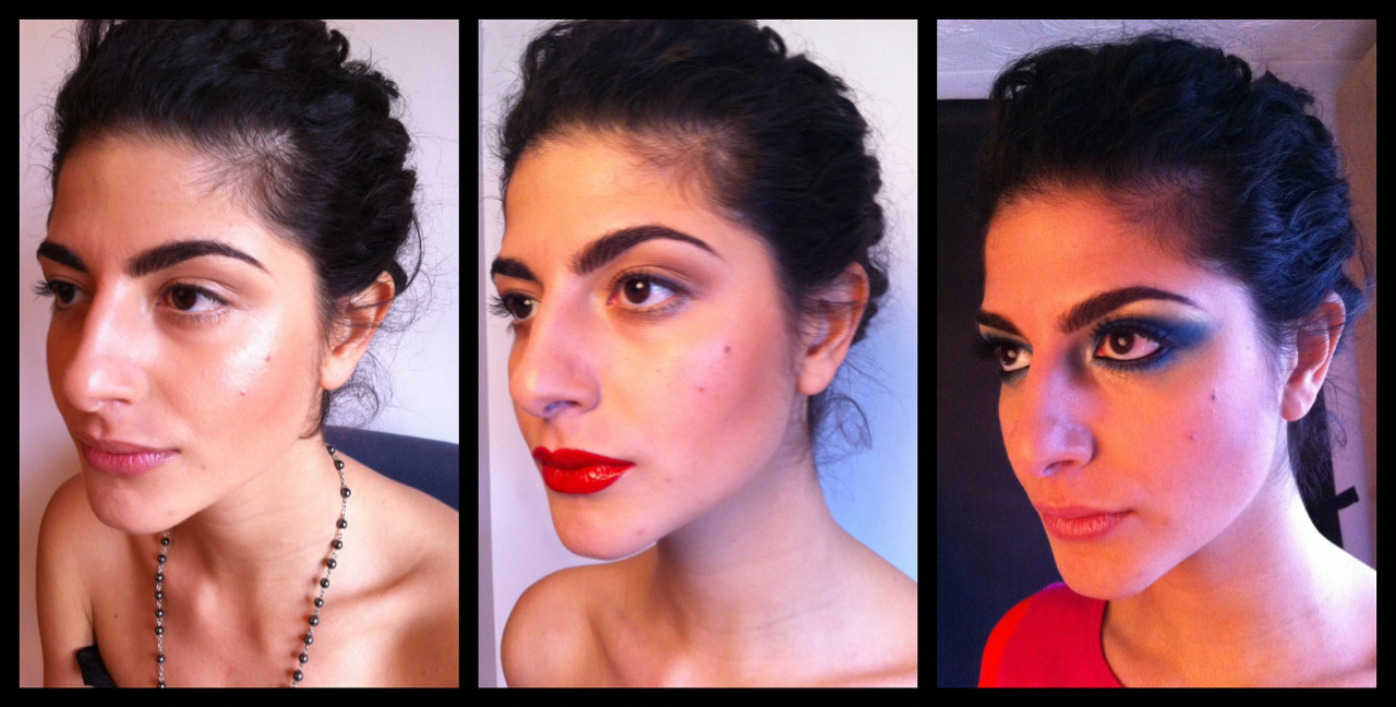 The first 3 looks I created on the model during yesterday's photo shoot. *Natural Beauty *Bold Lip *Dramatic Eyes in Blue