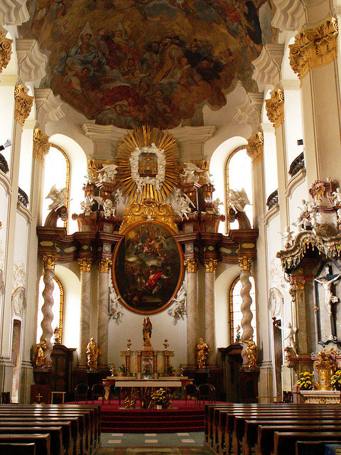 | ♕ |  Baroque altar at a Czech cathedral  | by © Pedro NC