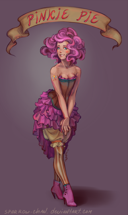 dragonbait-ep:  Pinkie Pie humanization by *sparrow-chan  For Harrison
