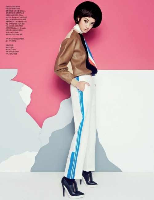 Harper's Bazaar Korea Title: Retro Holidays Model:  Kang So Young Photographer: Shin Sun Hye December 2012