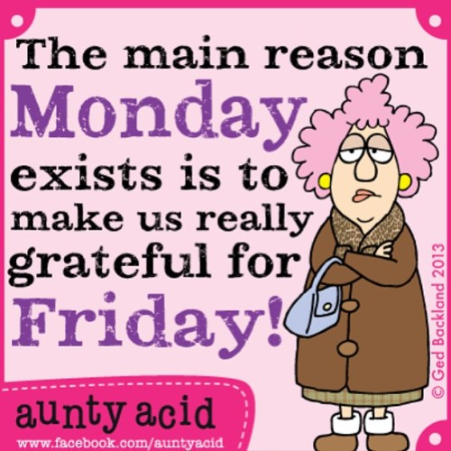 Especially looking forward to this Friday!! Concert!!!! #friday #auntyacid