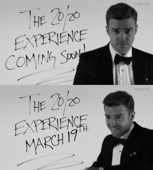 "Justin Timberlake's ""20/20 Experience"" Due March 19"