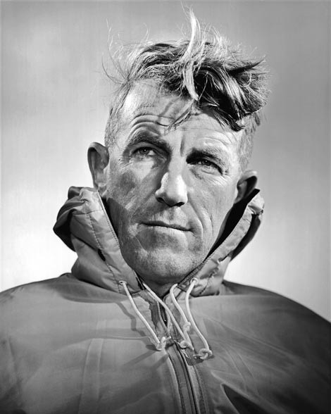 fuckyeahhistorycrushes:  Sir Edmund Percival Hillary was a Kiwi mountaineer, explorer, philanthropist and all round badass. 'Well, George, we knocked the bastard off.' — his first words to lifelong friend George Lowe on returning from Everest's summit (1953)