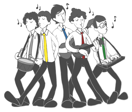 sara-sketches:   i found a little band~