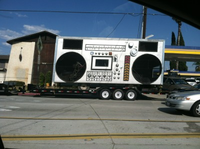 Saw this HUGE boom box while driving in the SGV