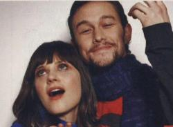 cine-movies:  zooey deschanel and joseph gordon levit