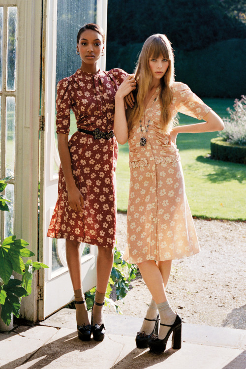 Jourdan Dunn and Edie Campbell - both wearing Bottega Veneta - photographed by Angelo Pennetta for the February 2013 issue.