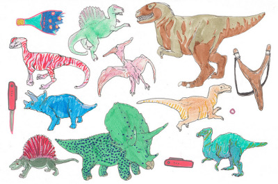 bully dinos by mina_milk on Flickr.