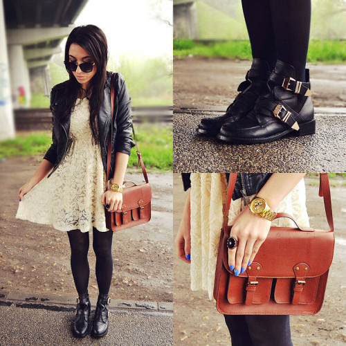 lookbookdotnu:  Lace & leather (by Pam S)