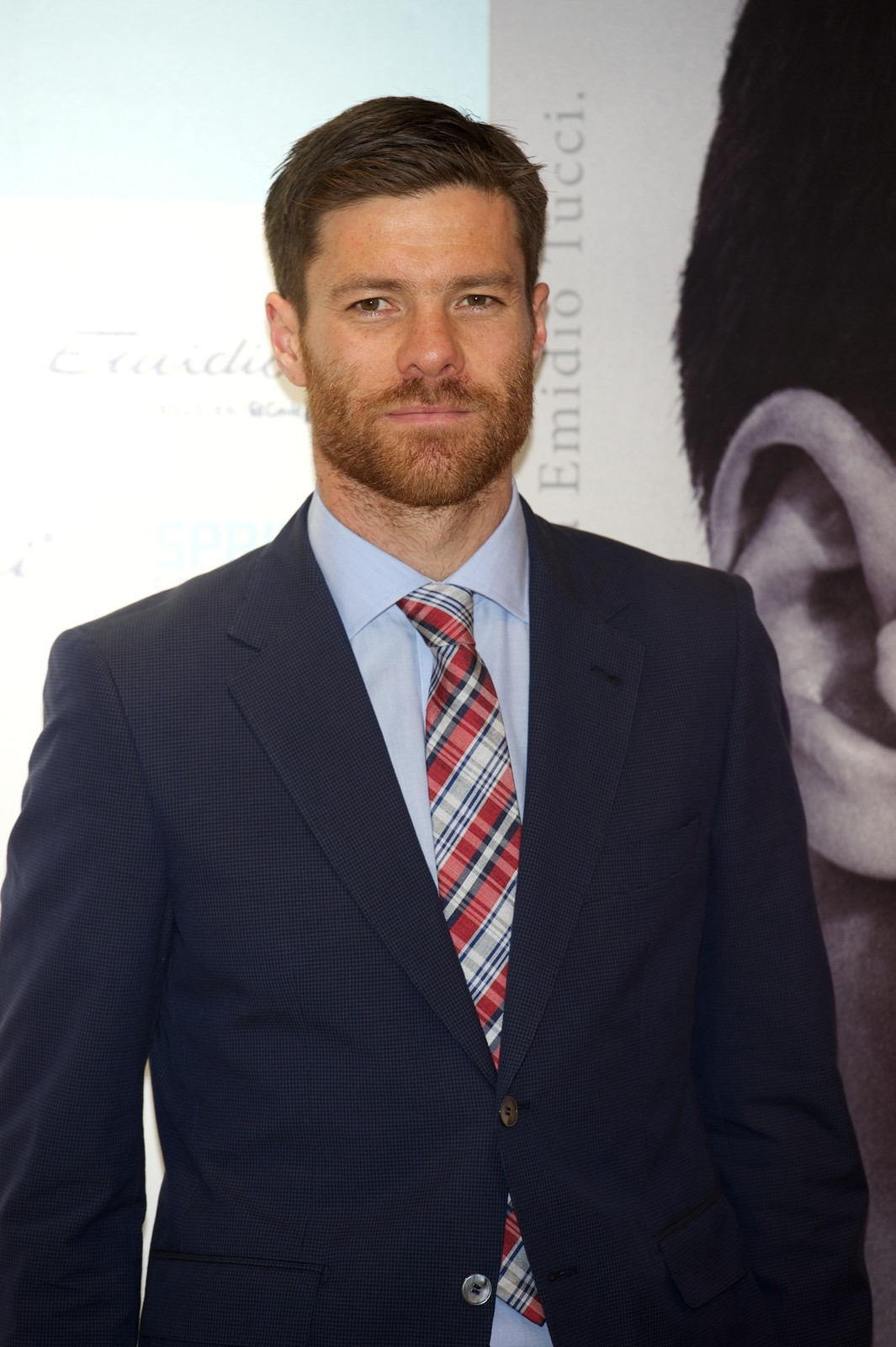 gfsports:  Xabi Alonso presents the new 'Emidio Tucci Black' collection at the El Corte Ingles Serrano store (Part I)  And he's wearing the plaid tie… it's like he read my mind from across the globe.