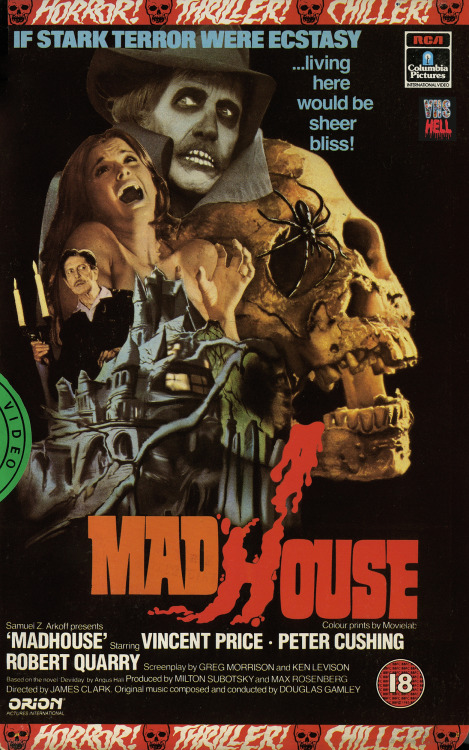 thelegendaryvhs:  W kręgu szaleństwa aka Madhouse Director: Jim Clark 1974 imdb ITI Home Video