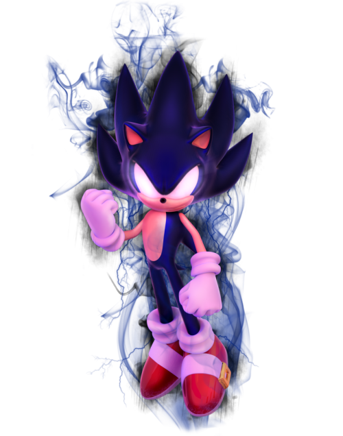 chaosblast:  Dark Sonic Time by ~Fentonxd