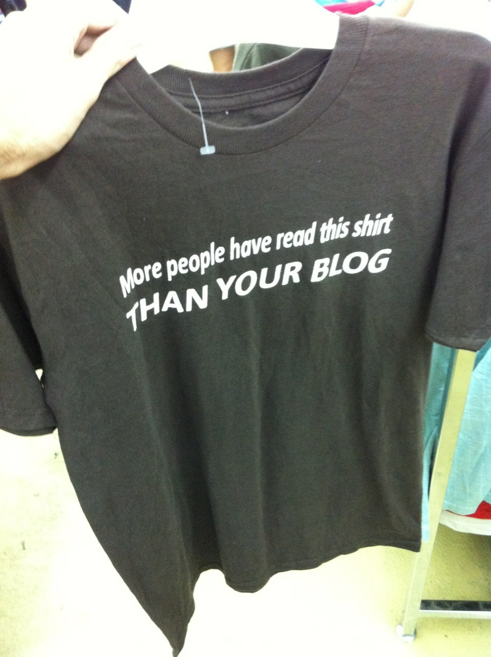 How dare you!  I have a very prestigious blog, sir!