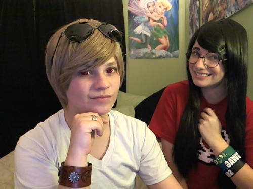 Jake and I going on omegle as dave and jade. excuse to wear my new wig
