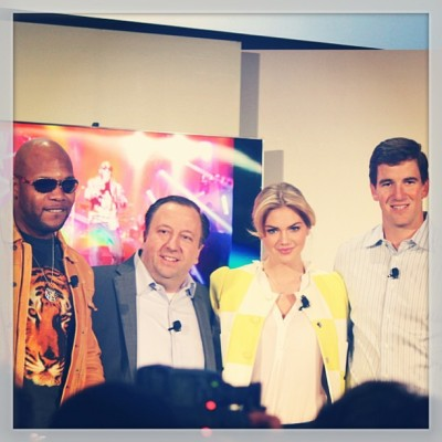 Just another day at the office. #samsung #kateupton #elimanning #flo-rida
