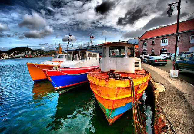 wanderlust-stricken:  Carenage boats, Saint George, Grenada.