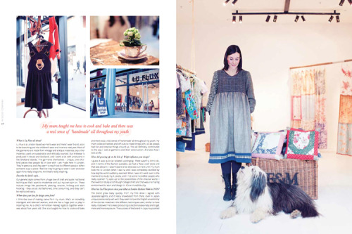 I have a 5 page feature in print in the latest issue of Peppermint Magazine (Australia) about the wonderful Lu Flux and her brilliant dog Burt. Grab a digital copy here :).