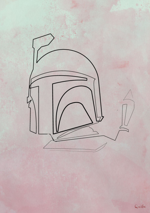 """One line Boba Fett "" quibe  (France) via Curioos"