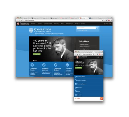 Take a peek at what @concrete5 can make: large institutional website, elegant & responsive. http://www.cambridge.org/