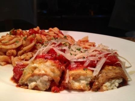 Eggplant Rollatini on tonight's 3 Course Thursday menu in Saratoga~ only $19!