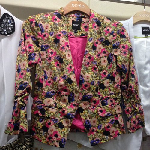 This floral blazer from xoxo screams spring! Photographed by Julia Rubin.