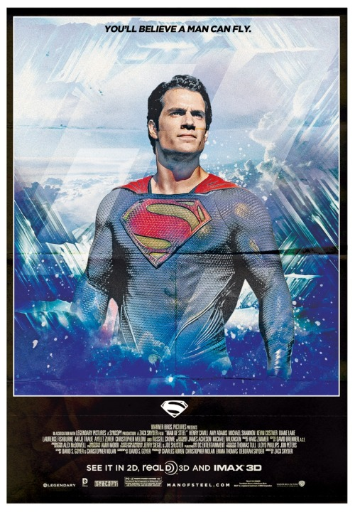 Check out my old school fan poster I designed inspired by 'MAN OF STEEL'