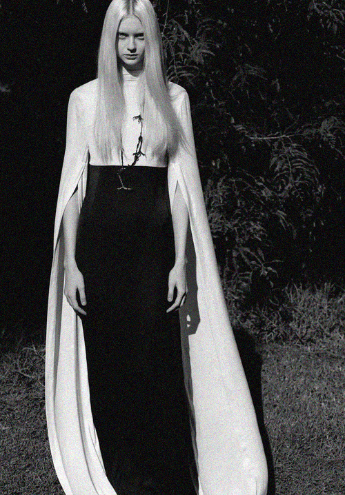 voguelovesme:  Nastya Kusakina in Ann Demeulemeester S/S '12 for AnOther Magazine S/S 2013