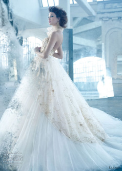 helloweddingdiary:  Lazaro Spring 2013 bridal collection