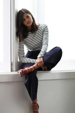 what-do-i-wear:  Macgraw Striped Top, Topshop trousers, A pair & A Spare for Tony Bianco Kasandra Heels (image: apairandasparediy)